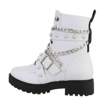 Ankle Boots H71-02-white