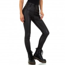 Кожен панталон Colorful Denim KL-J-C3663-black