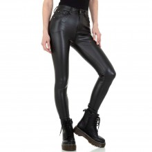 Кожен панталон Colorful Denim KL-J-C3669-black