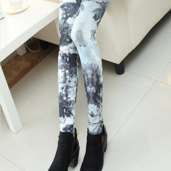 New Elasticity Print Quick Dry Sporting Leggings