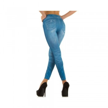 Ximanyi (Satisfied) Women's Leggings LM1018 - BLACK+BLUE (2 pieces)